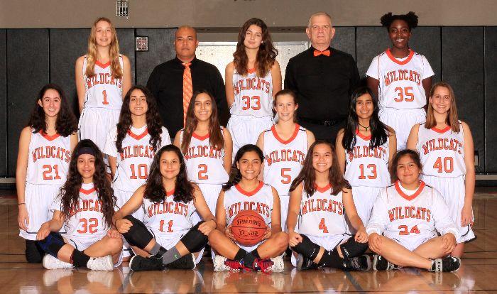 Junior Varsity Girls Basketball Team